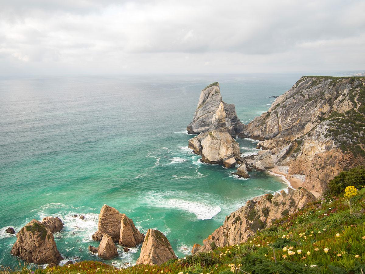 praia de ursa - Portugal Rundreise mit dem Auto - Von Burgen über Klippen - Unsere Reiseroute