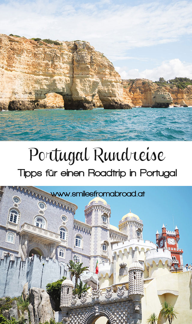 roadtrip portugal pinterest3 - Portugal Rundreise mit dem Auto - Von Burgen über Klippen - Unsere Reiseroute