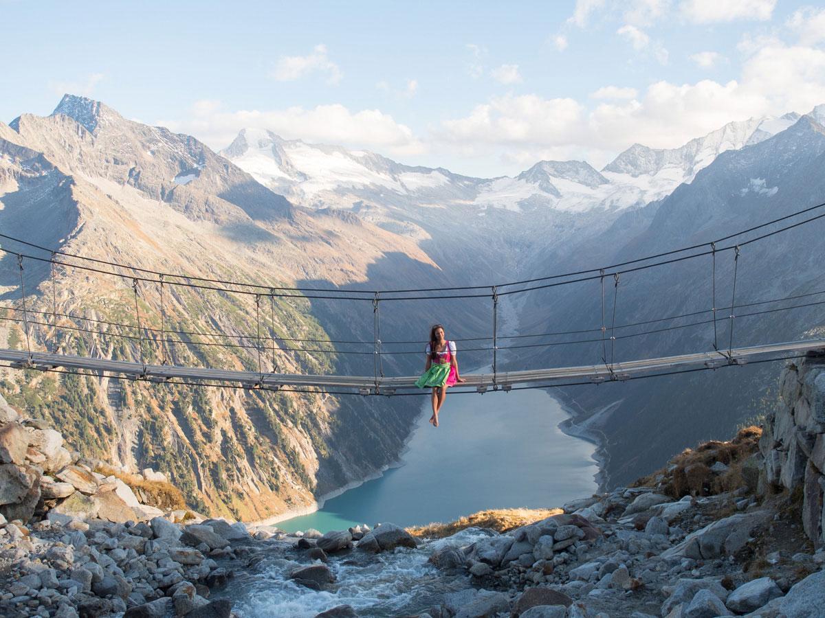 Olpererhütte Hängebrücke Zillertal Tirol