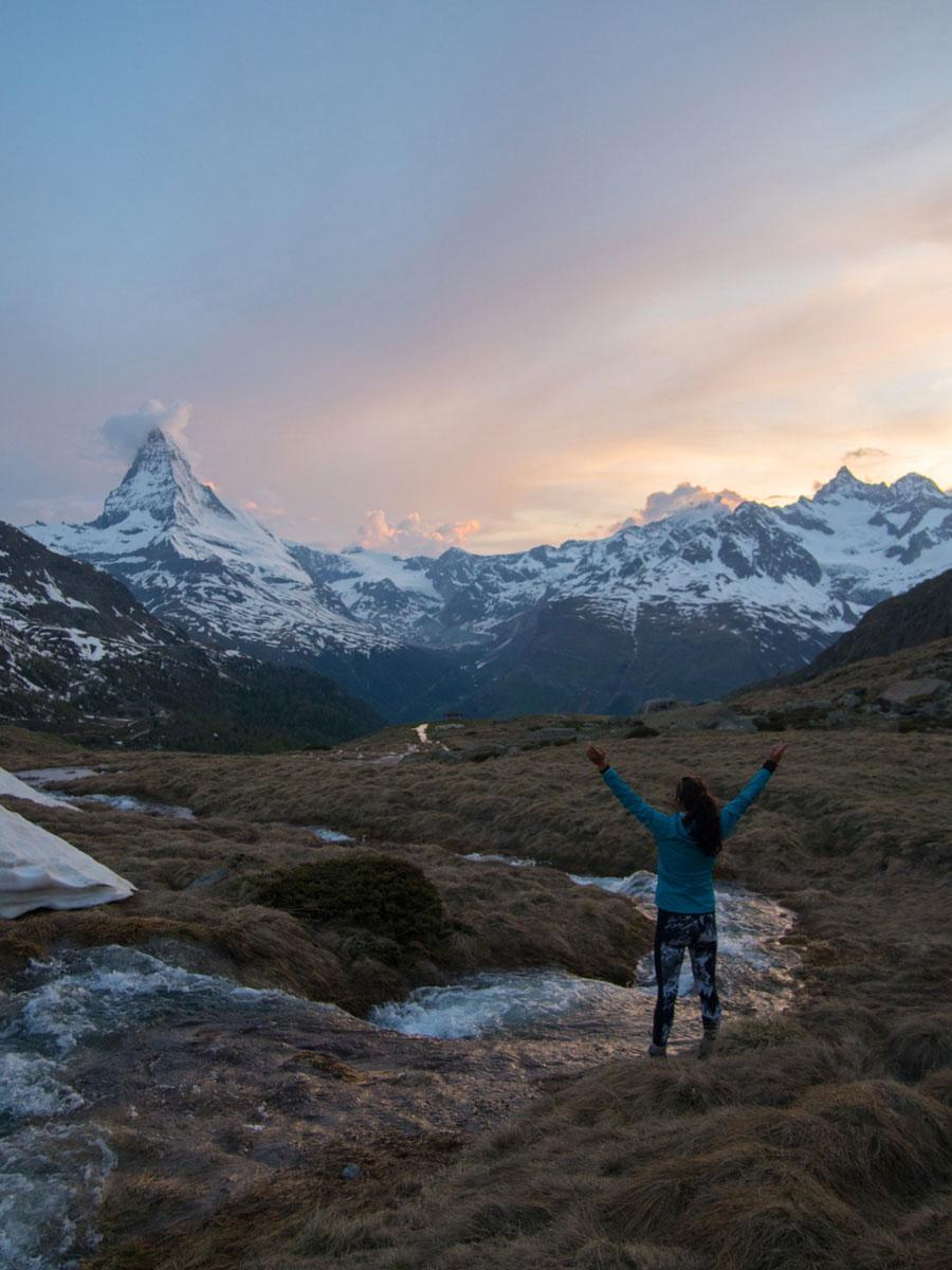 5seenwanderung zermatt schweiz 12 - 5 Seen Wanderung Zermatt - Stellisee, Grindjisee, Grünsee, Moosjiesee, Leisee