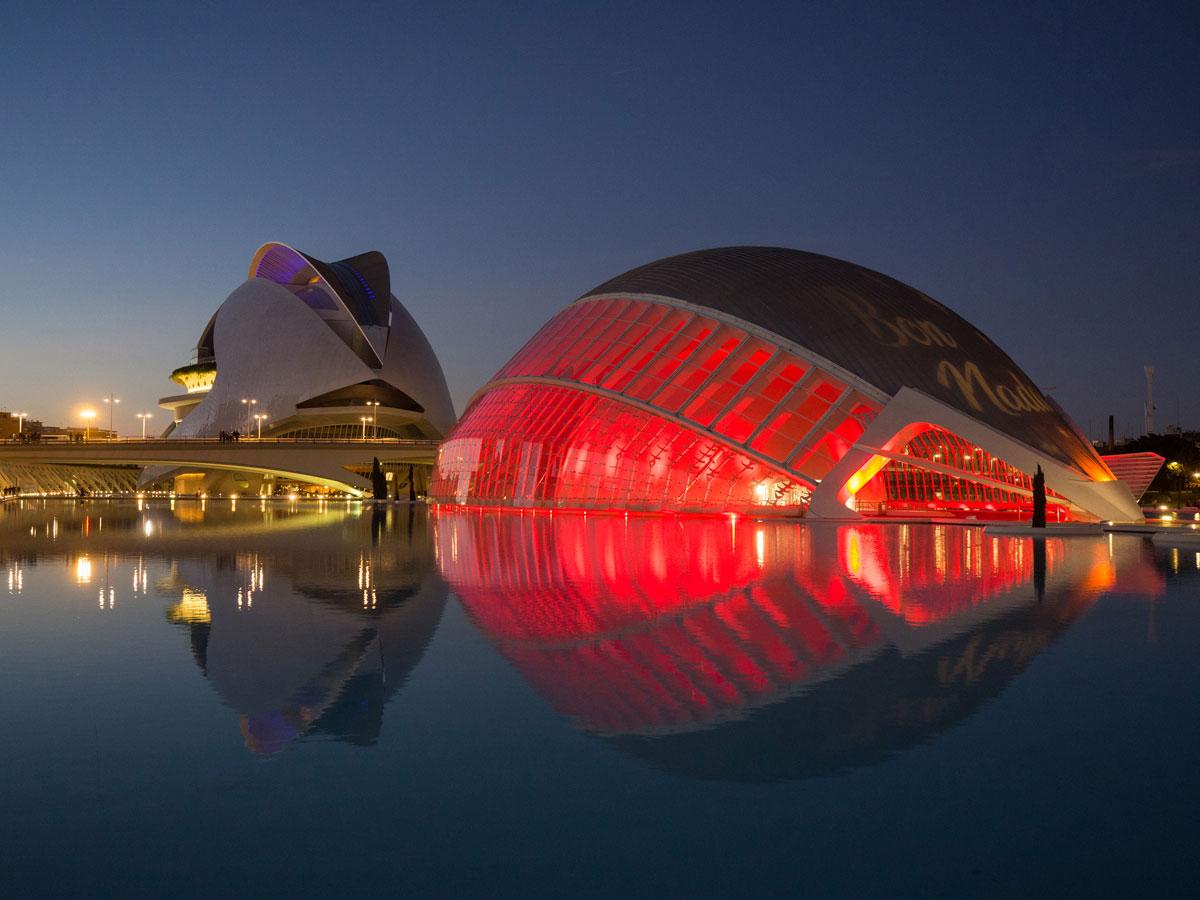 ciutat de les arts ciences valencia sonnenuntergang 10 - Valencia erkunden - Reiseplanung, Highlights, Ausflugstipps
