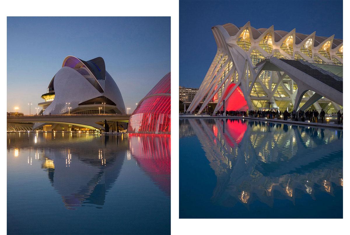 ciutat de les arts ciences valencia sonnenuntergang 8 - Valencia erkunden - Reiseplanung, Highlights, Ausflugstipps