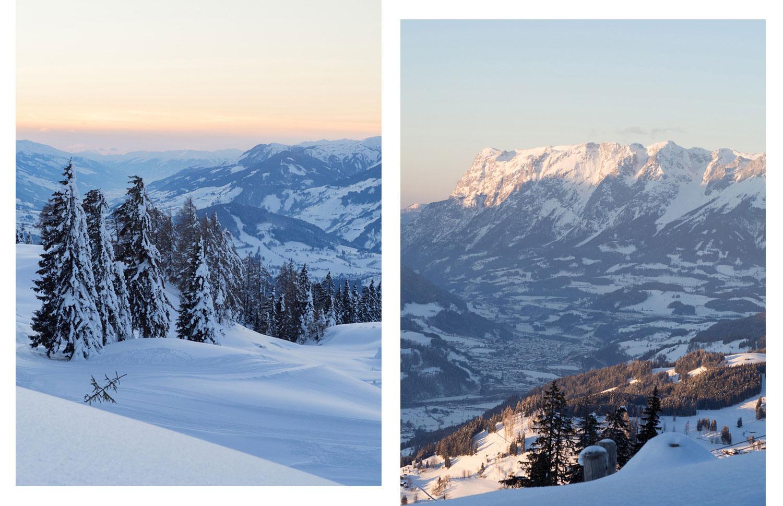 Sonnenuntergang in der Salzburger Sportwelt