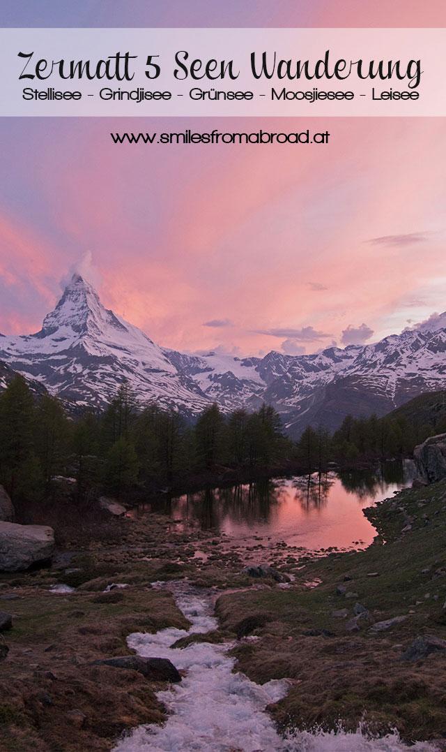 zermatt 5seen pinterest - 5 Seen Wanderung Zermatt - Stellisee, Grindjisee, Grünsee, Moosjiesee, Leisee