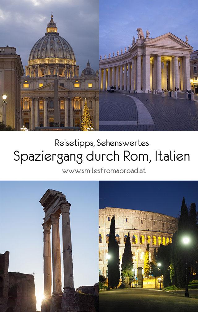 rom spaziergang pinterest - Spaziergang durch Rom - Zu Fuß in Rom unterwegs - Sehenswertes und Reisetipps