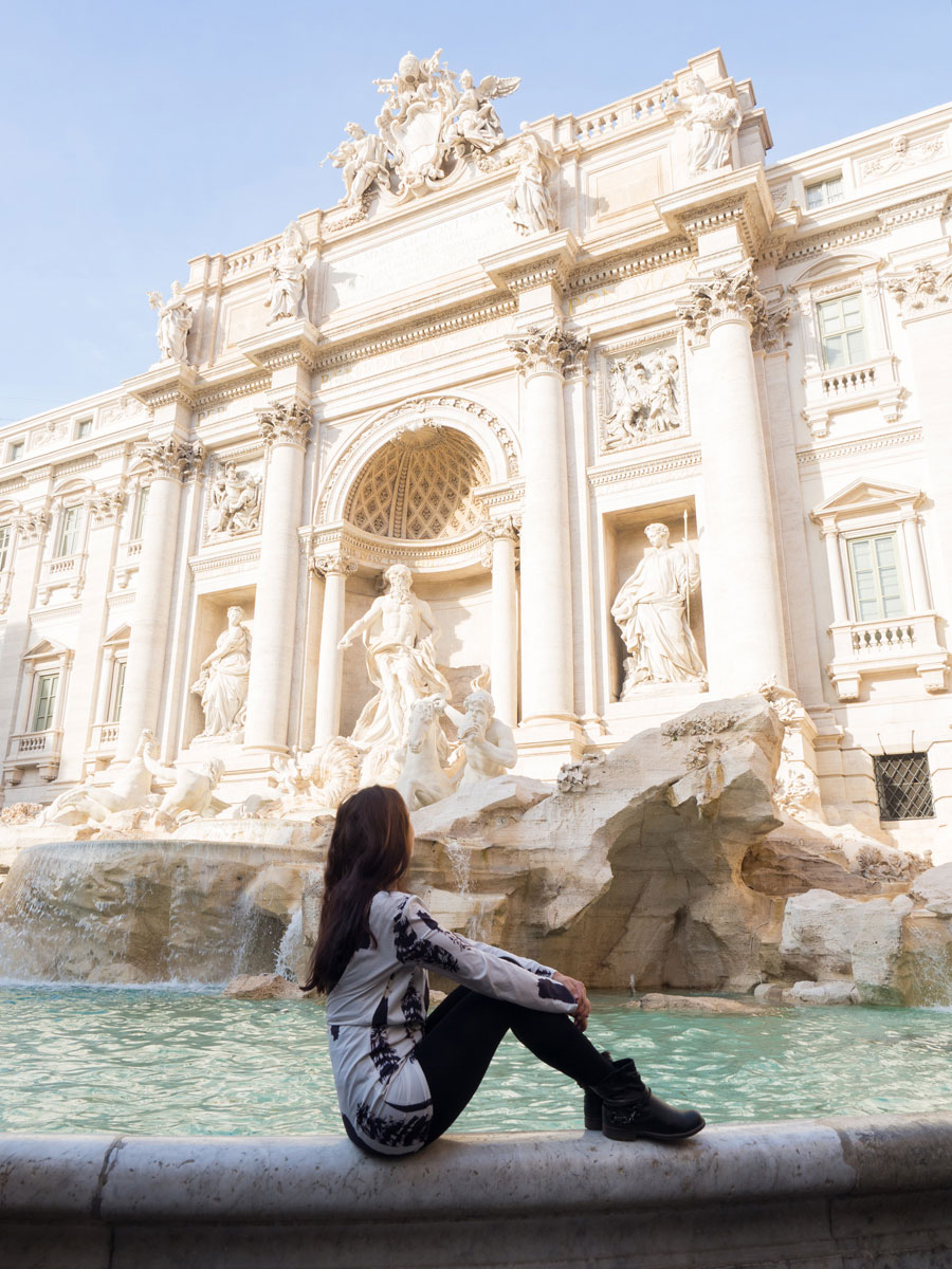 rom trevibrunnen spaziergang2 - Spaziergang durch Rom - Zu Fuß in Rom unterwegs - Sehenswertes und Reisetipps