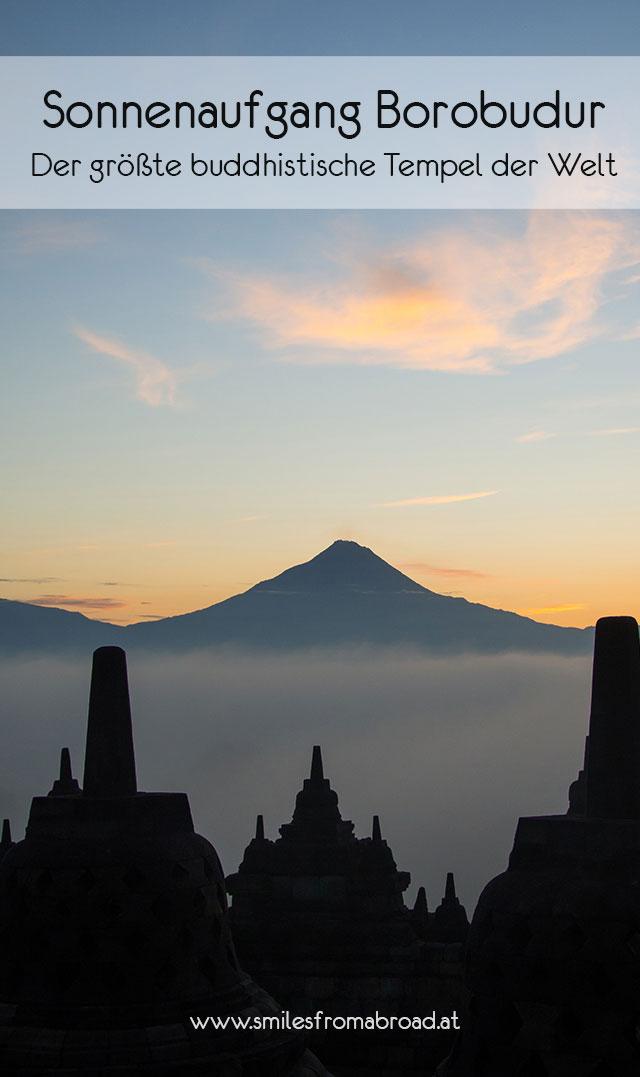 borobudur sonnenaufgang pinterest - Borobodur Tempel in Java (Indonesien) zu Sonnenaufgang