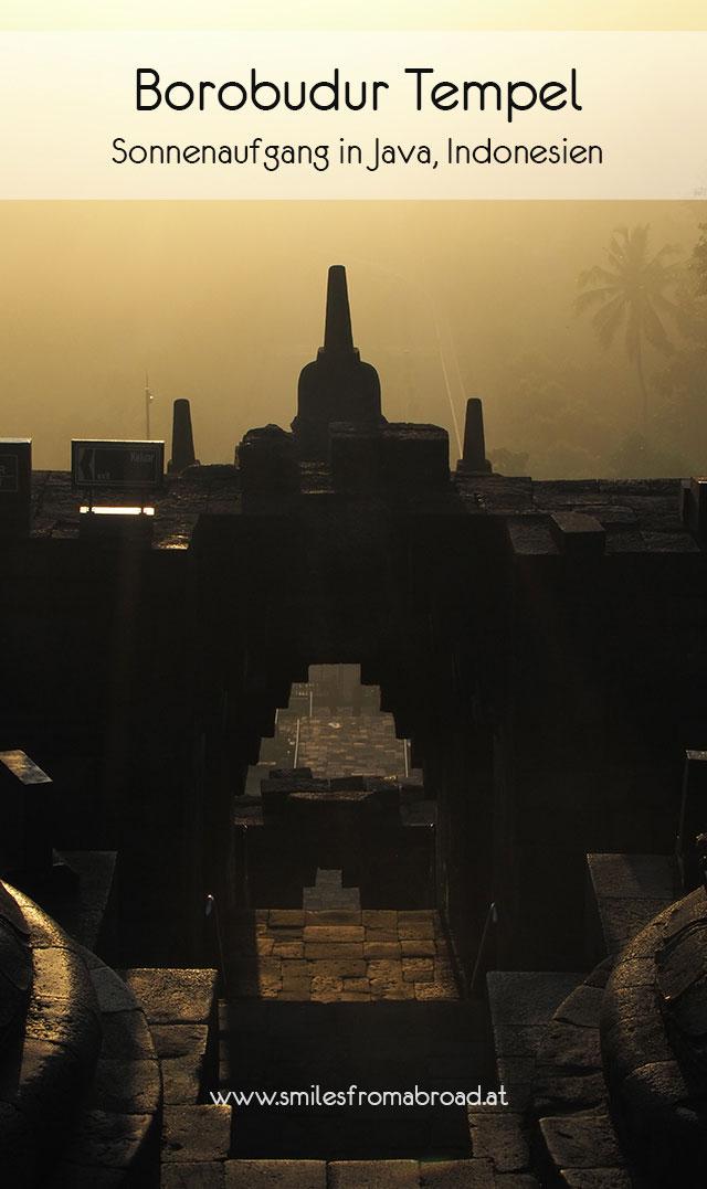 borobudur sonnenaufgang pinterest2 - Borobodur Tempel in Java (Indonesien) zu Sonnenaufgang