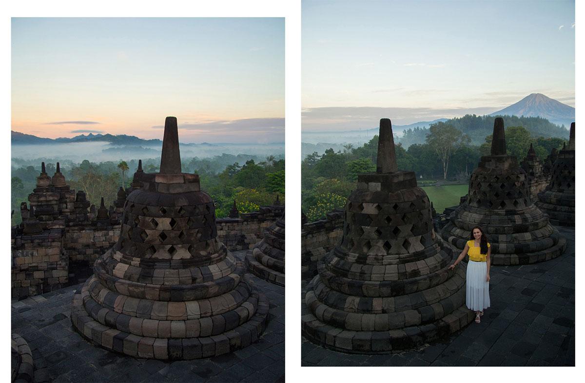 borobudur tempel java indonesien sonnenaufgang 1 - Borobodur Tempel in Java (Indonesien) zu Sonnenaufgang