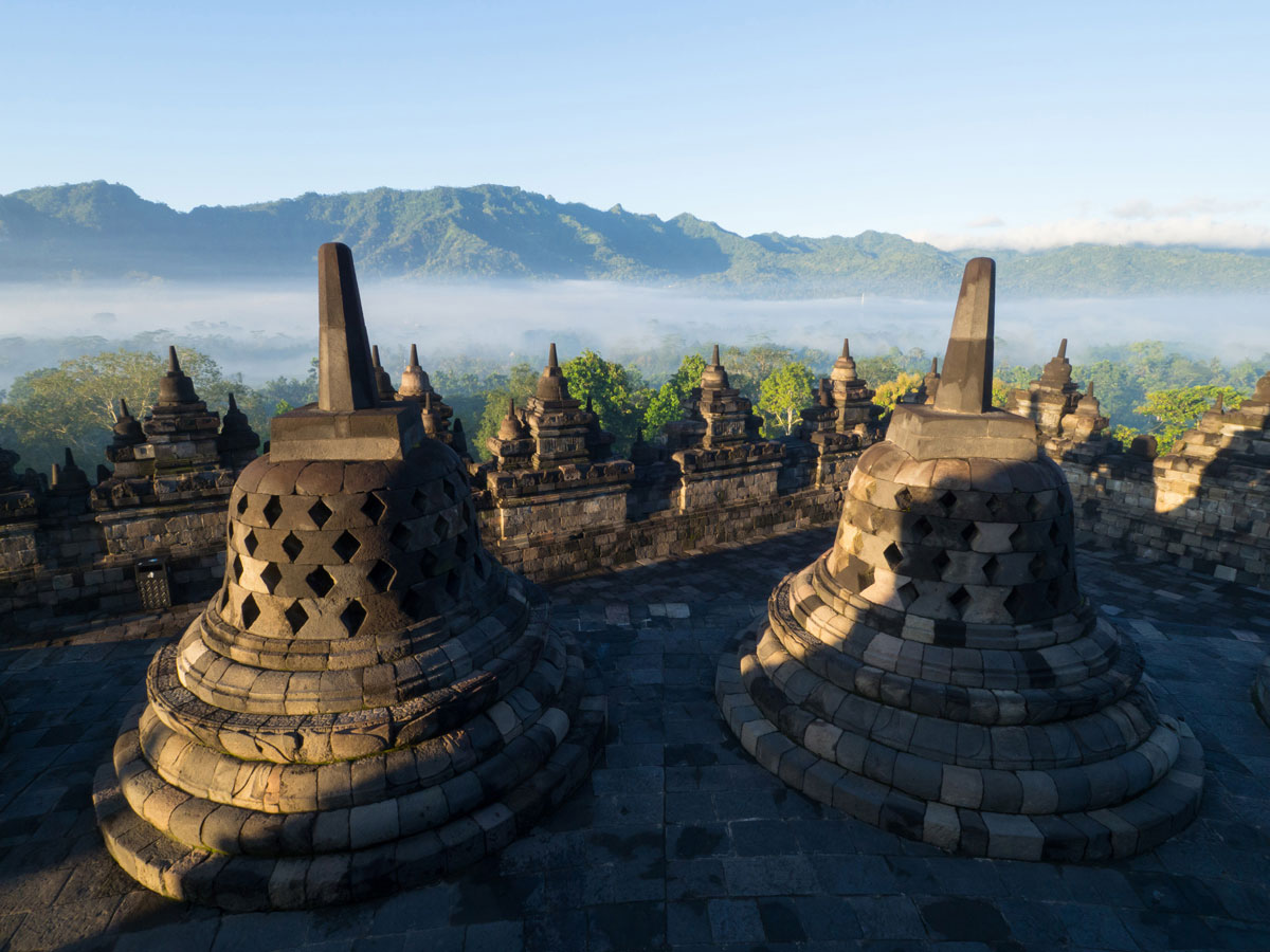 borobudur tempel java indonesien sonnenaufgang 14 - Borobodur Tempel in Java (Indonesien) zu Sonnenaufgang