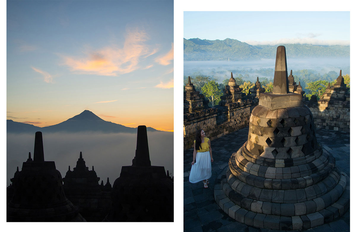 borobudur tempel java indonesien sonnenaufgang 4 - Borobodur Tempel in Java (Indonesien) zu Sonnenaufgang