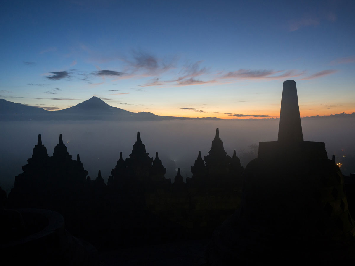Borobudur Tempel Sonnenaufgang