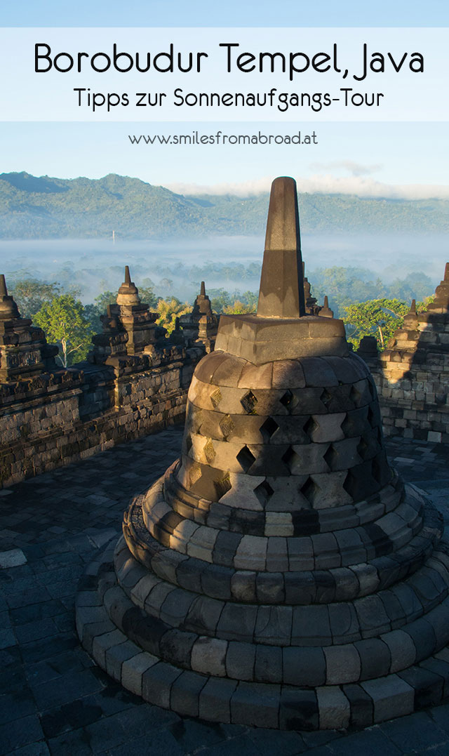 borobudur tempel java - Borobodur Tempel in Java (Indonesien) zu Sonnenaufgang