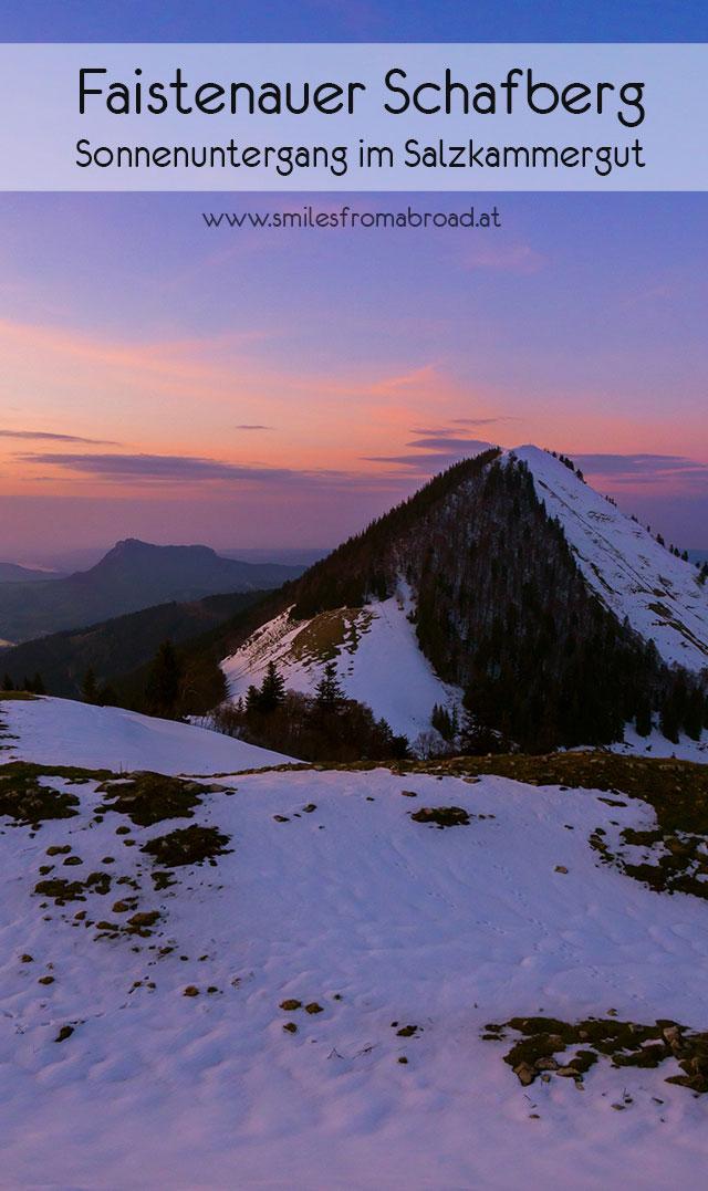 faistenauer schafberg pinterest - (Winter-) Wanderung zu Sonnenuntergang zum Faistenauer Schafberg