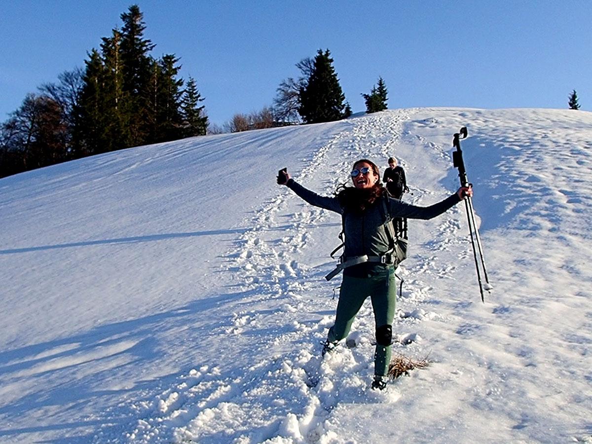 Spaß beim Wandern am Faistenauer Schafberg