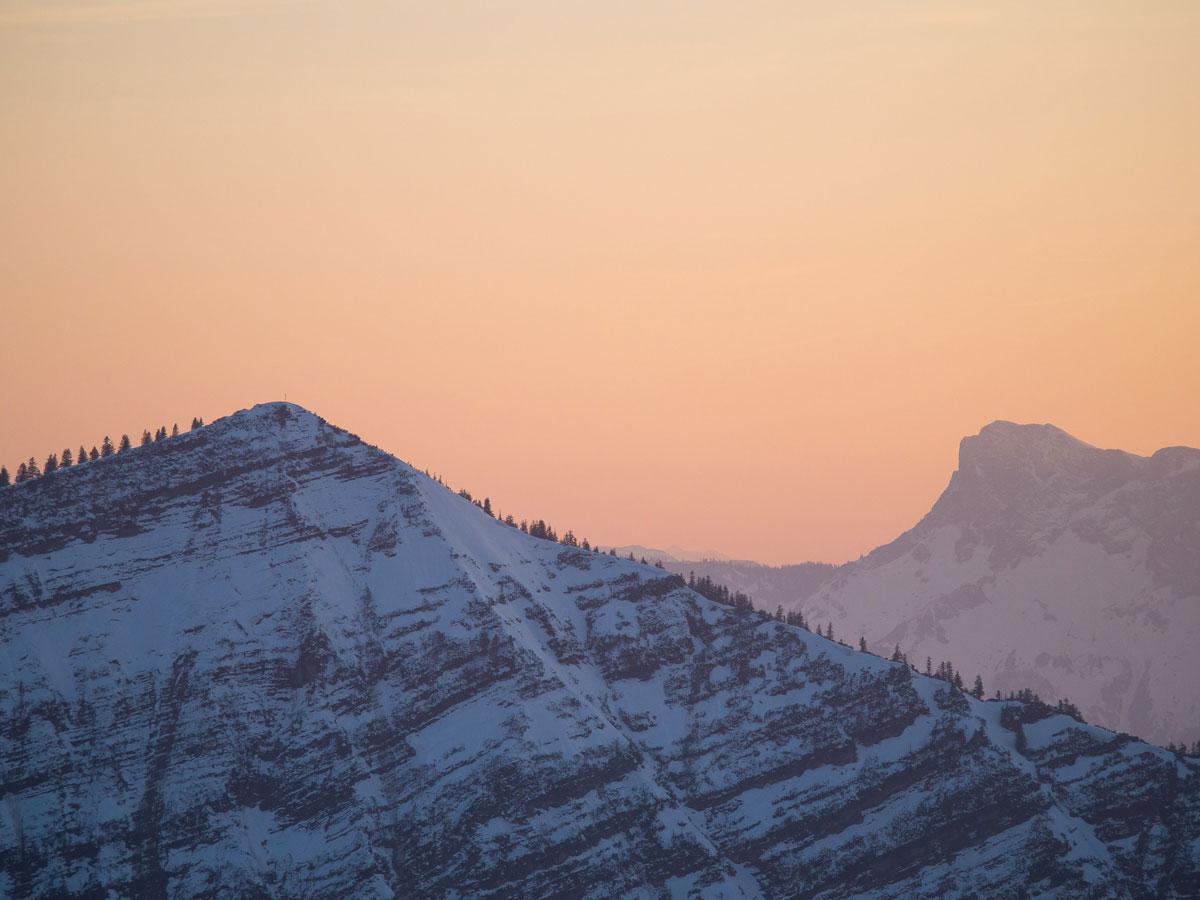 Wanderung zu Sonnenuntergang Faistenauer Schafberg