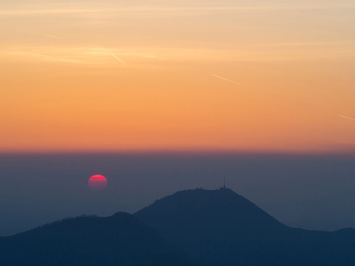 Blick auf Gaisberg Sonnenuntergang