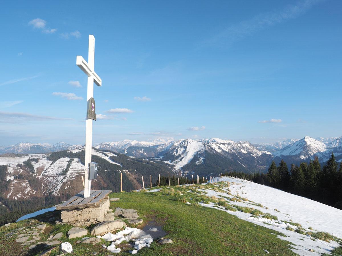 Gipfel der Loibersbacher Höhe