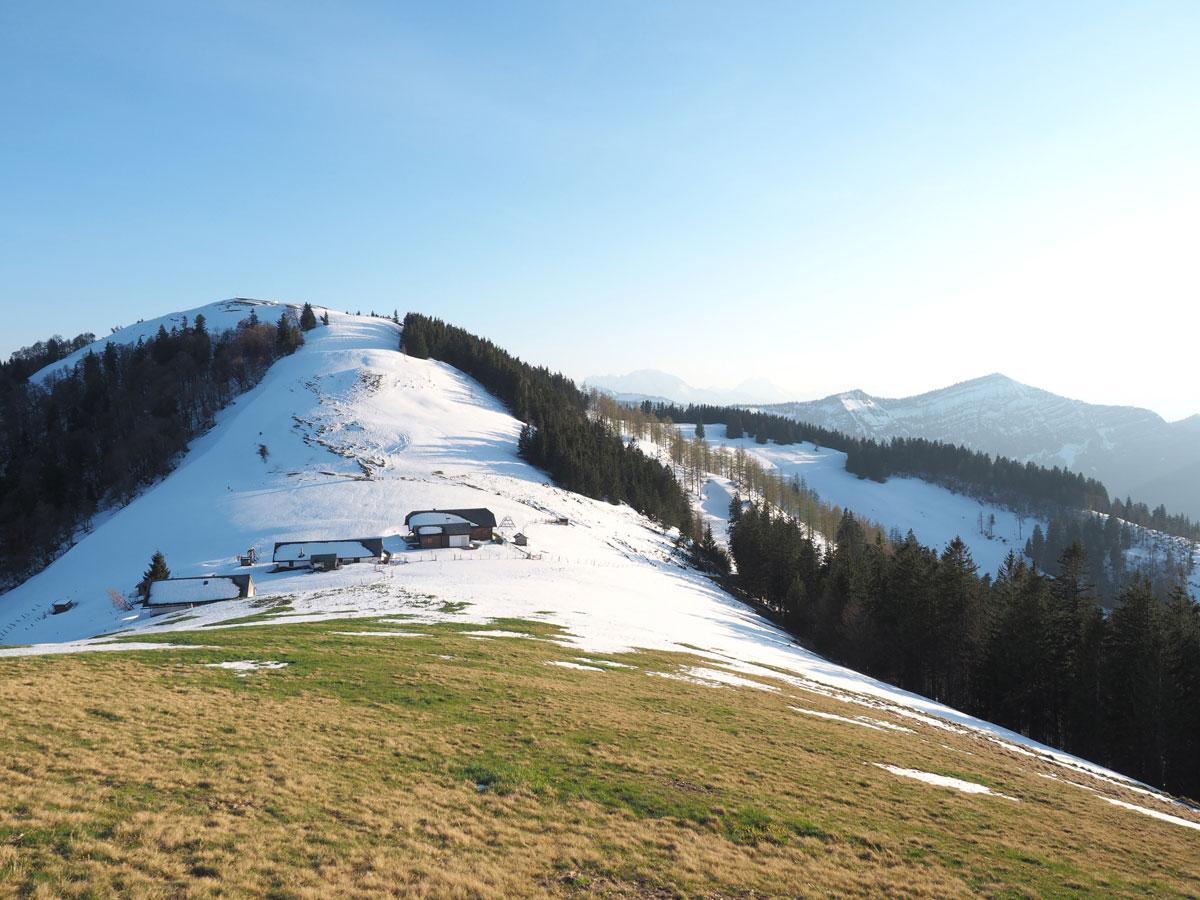 wandern faistenauer schafberg loibersbacher hoehe winter sonnenuntergang 9 - (Winter-) Wanderung zu Sonnenuntergang zum Faistenauer Schafberg