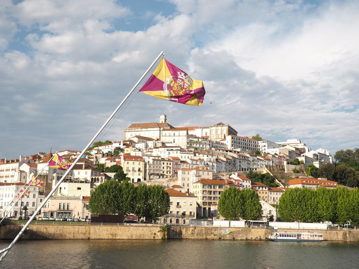 Stadt Coimbra Portugal Fluss