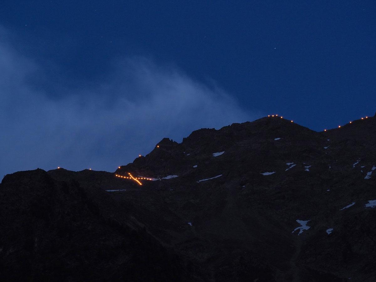 Herz-Jesu-Feuer Ötztal Tirol