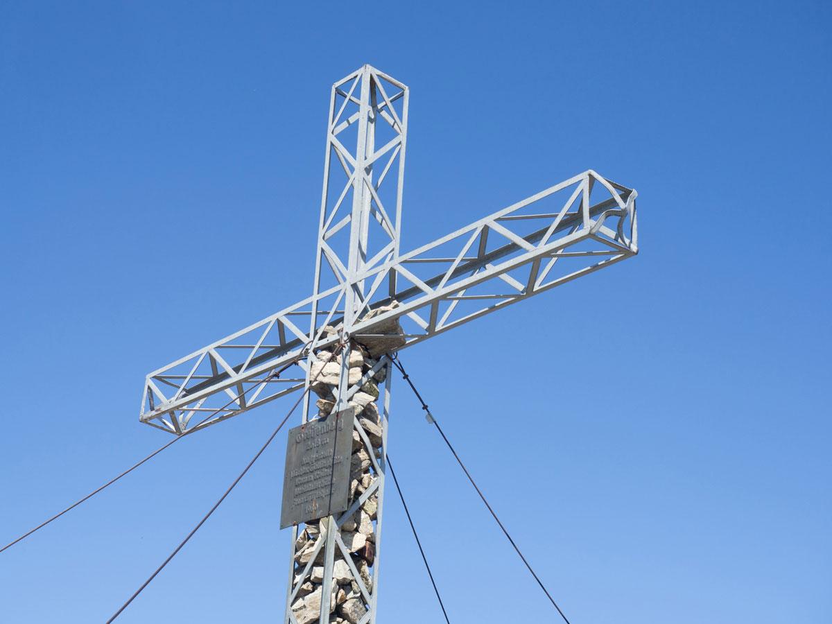 Der Greifenberg Gipfel Gipfelkreuz