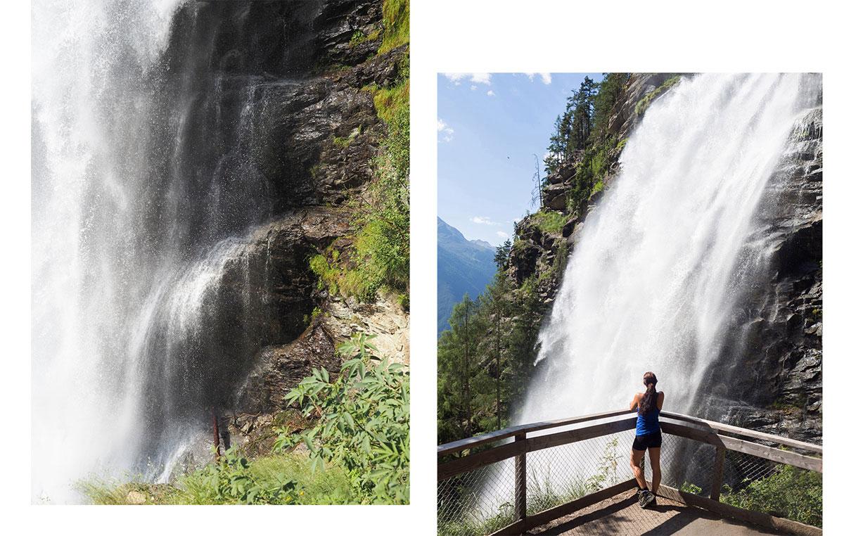 Wandern beim Stuibenfall in Tirol