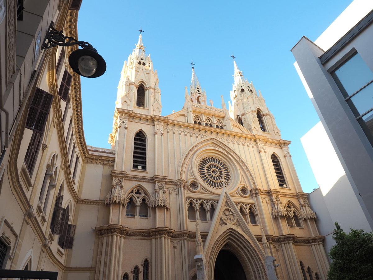 Malaga Kirche Innenstadt