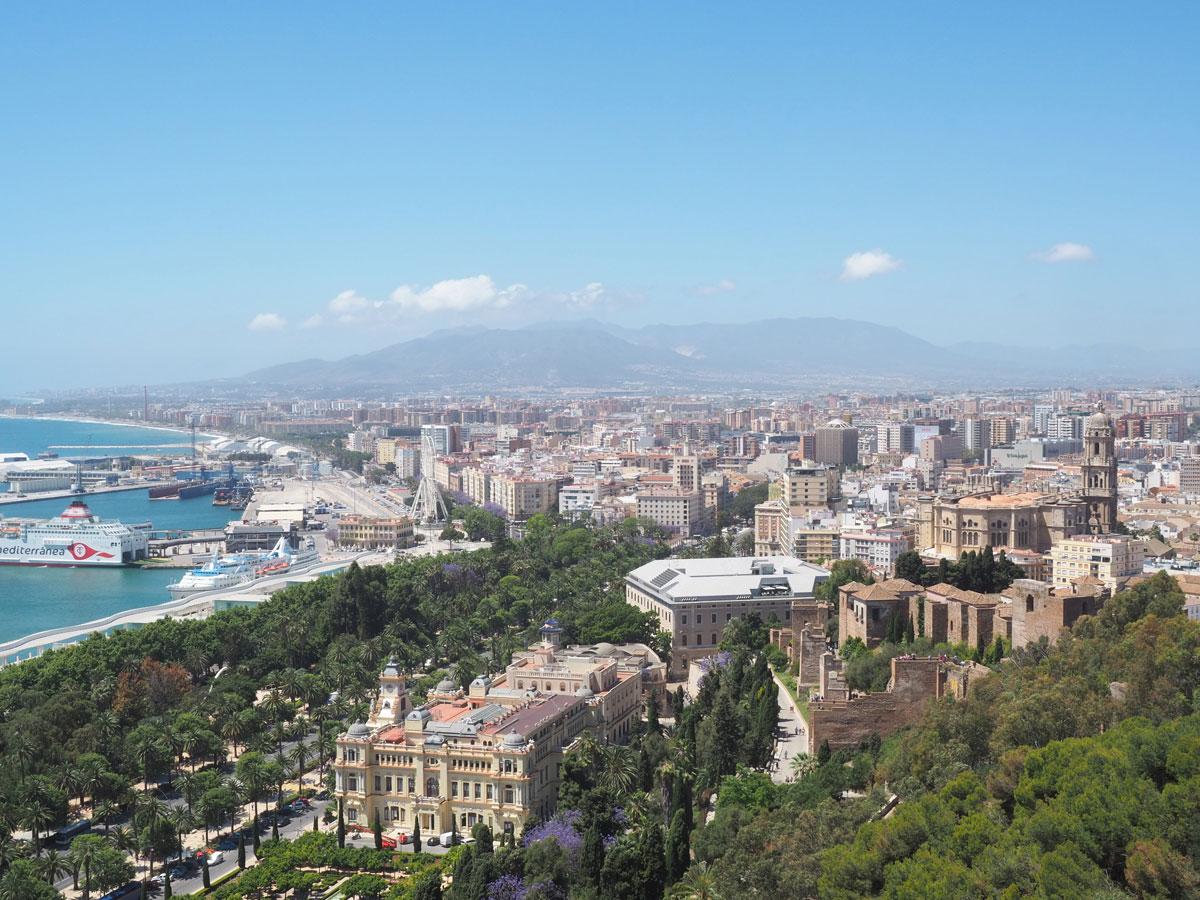 Ausblick auf Malaga von oben