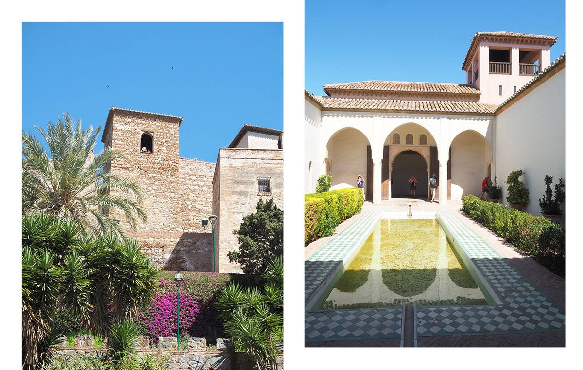 Malaga Festung von innen