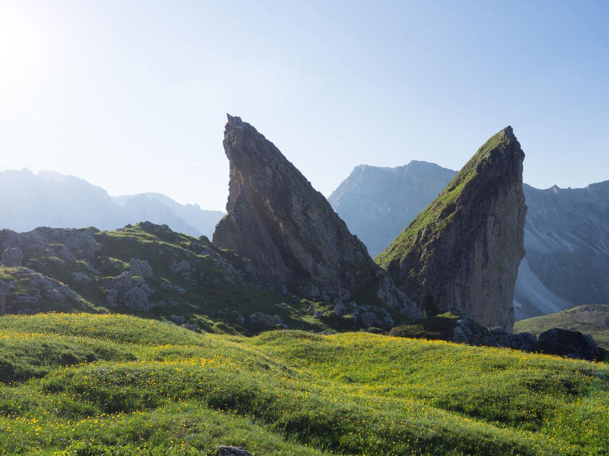 seceda groeden suedtirol dolomiten wandern 15 - Wandern auf die Seceda von Wolkenstein - Sonnenaufgang auf der Seceda
