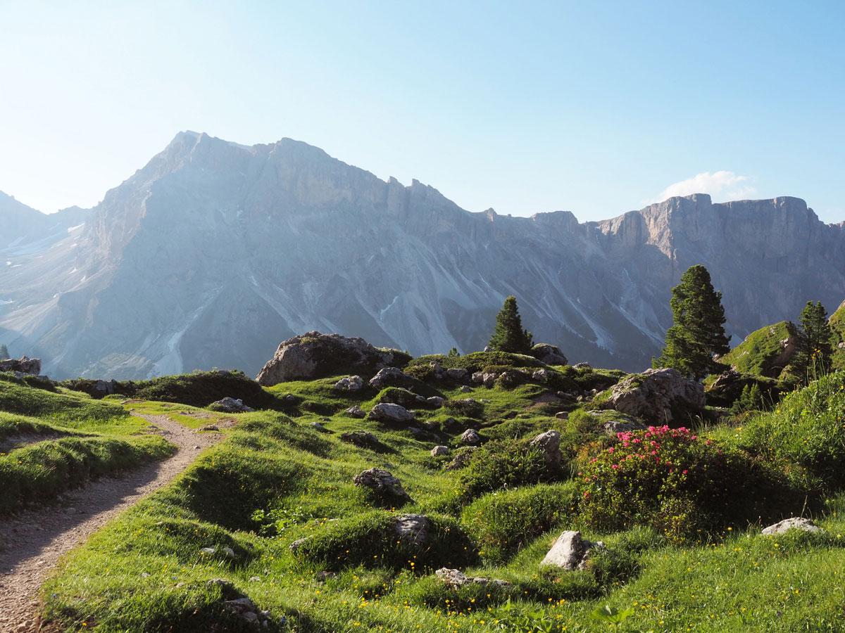 seceda groeden suedtirol dolomiten wandern 16 - Wandern auf die Seceda von Wolkenstein - Sonnenaufgang auf der Seceda