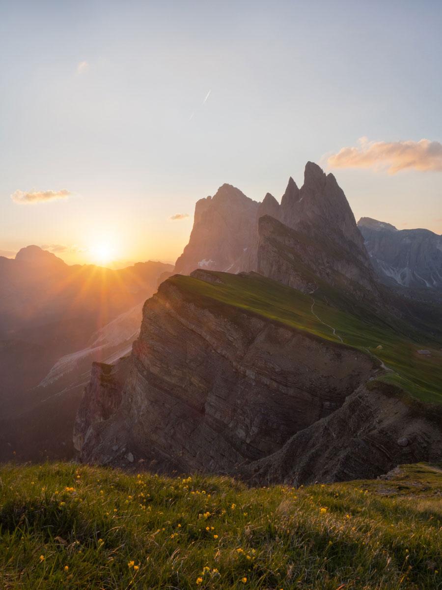 seceda groeden suedtirol dolomiten wandern 3 - Wandern auf die Seceda von Wolkenstein - Sonnenaufgang auf der Seceda