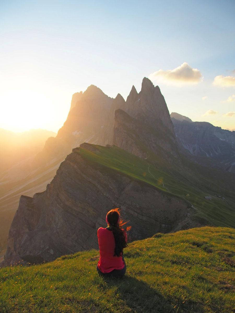 seceda groeden suedtirol dolomiten wandern 5 - Wandern auf die Seceda von Wolkenstein - Sonnenaufgang auf der Seceda