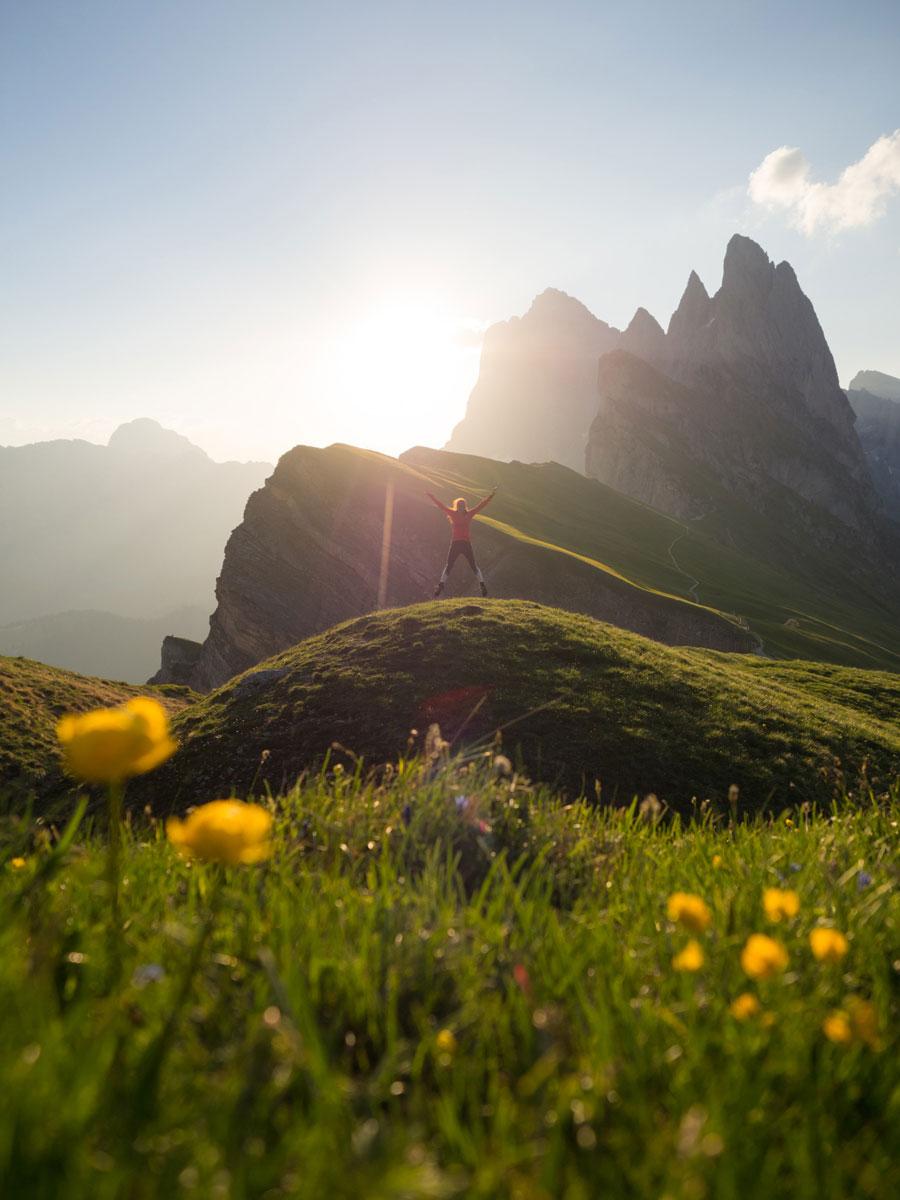 seceda groeden suedtirol dolomiten wandern 6 - Wandern auf die Seceda von Wolkenstein - Sonnenaufgang auf der Seceda