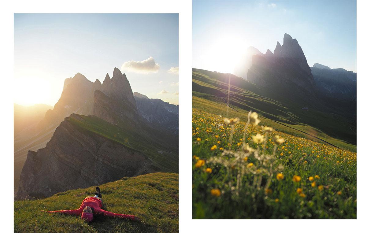 seceda groeden wandern wolkenstein 2 - Wandern auf die Seceda von Wolkenstein - Sonnenaufgang auf der Seceda
