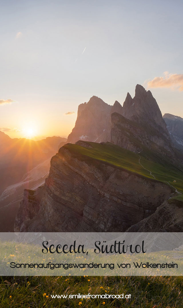 seceda pinterest - Wandern auf die Seceda von Wolkenstein - Sonnenaufgang auf der Seceda