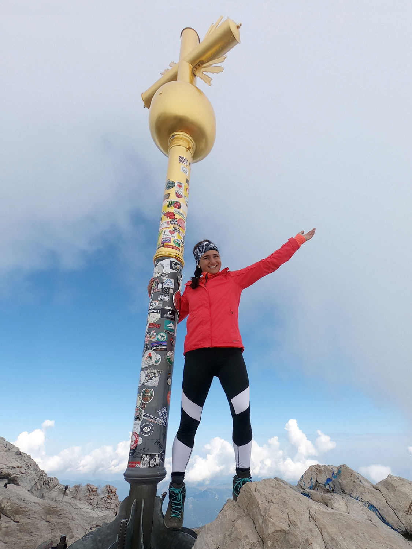 Gipfelsieg Gipfelkreuz Zugspitze