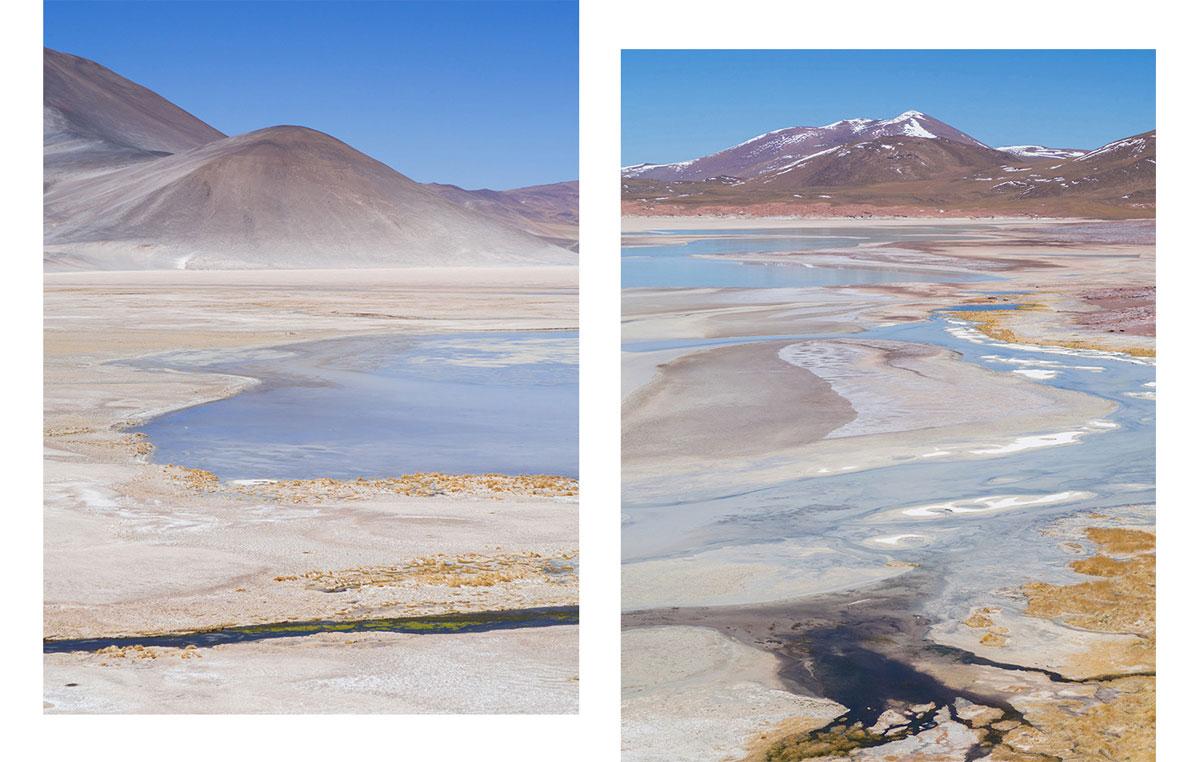 atacama salzsee - Als Selbstfahrer in der Atacama Wüste in Chile unterwegs