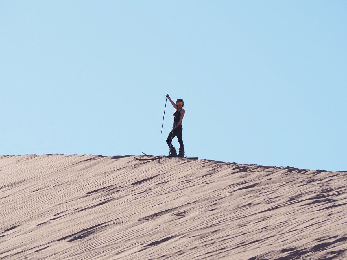 atacama sandsurfen sandskiing 1 - Als Selbstfahrer in der Atacama Wüste in Chile unterwegs