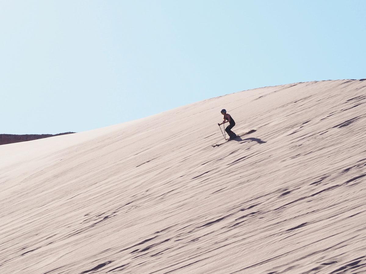 atacama sandsurfen sandskiing 3 - Als Selbstfahrer in der Atacama Wüste in Chile unterwegs