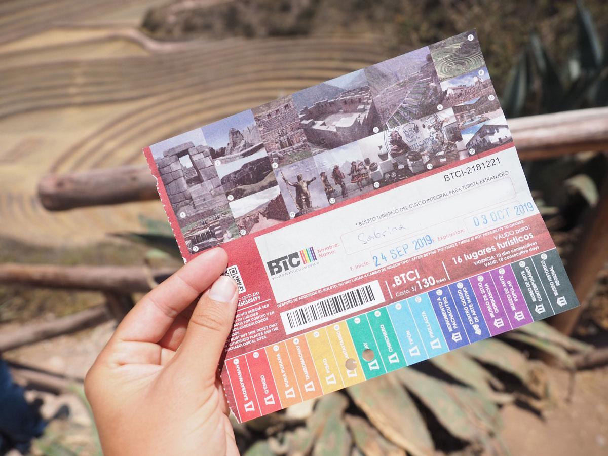 heiliges tal boleto turistico ticket - Reisetipps für die Inkastadt Cusco in Peru