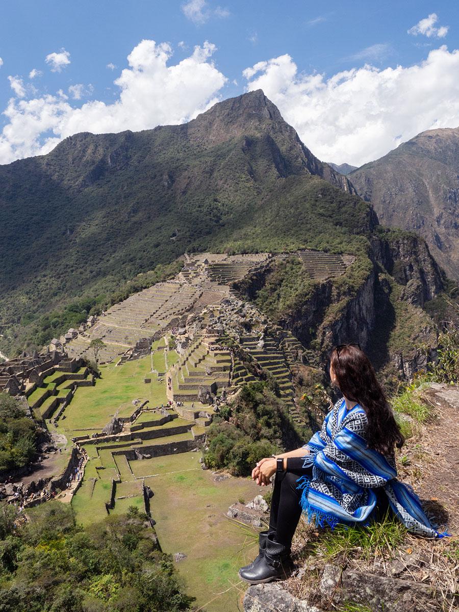 Huchuyu Picchu Ausblick auf Machu Picchu
