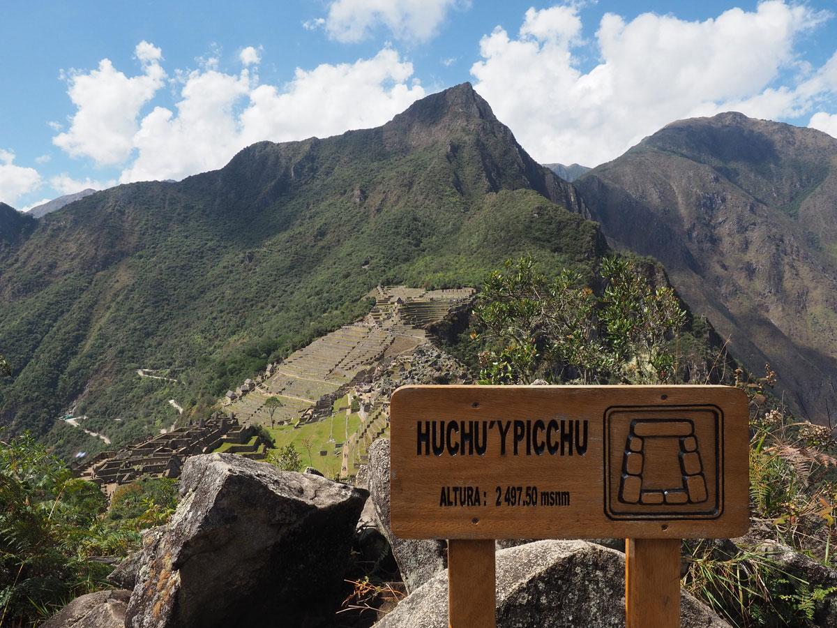 Gipfel Huchuy Picchu wandern Machu Picchu