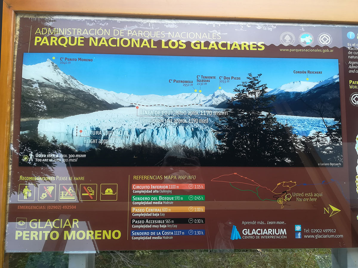 Perito Moreno Gletscher Wanderwege