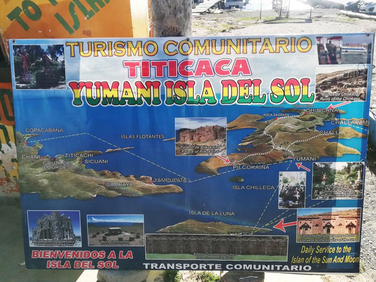 Isla de la Sol Karte