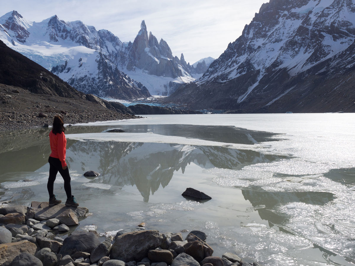 Female traveling solo in Patagonia in Argentina