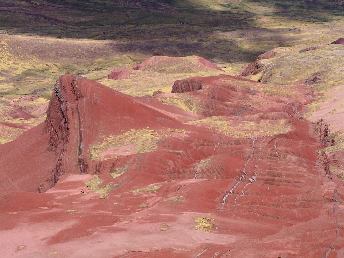 Rainbow Mountain Peru Südamerika Red Valley