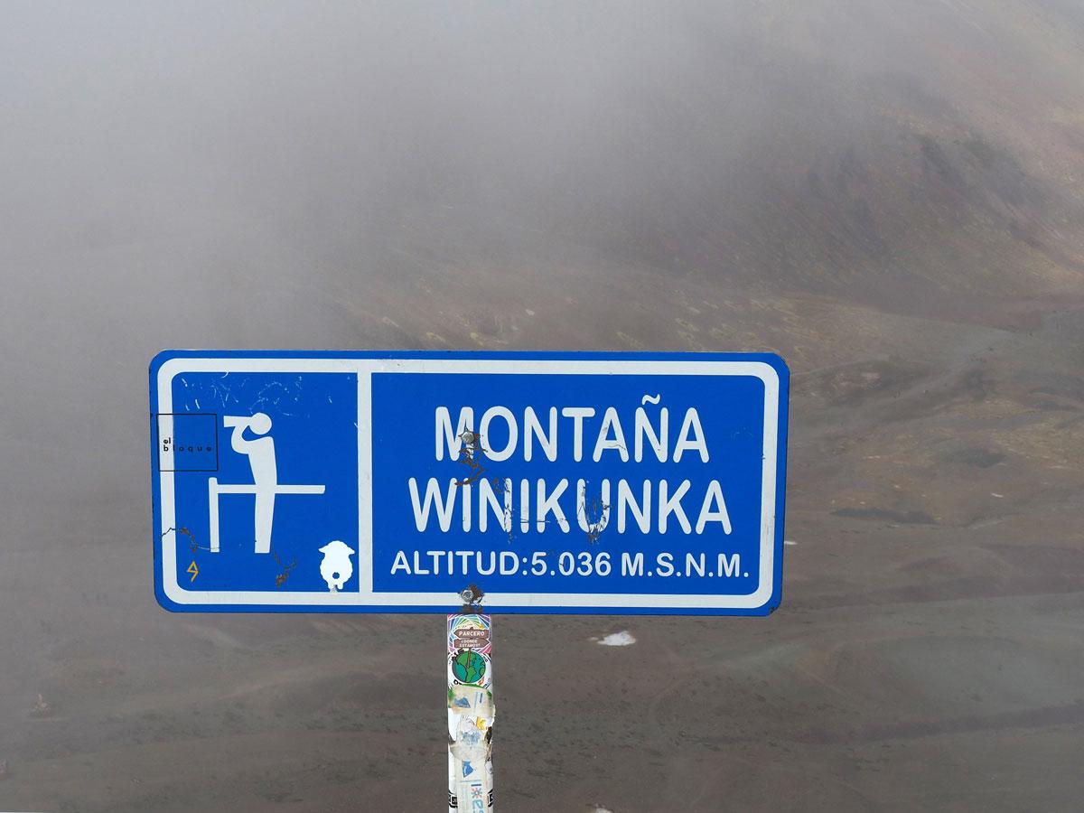 Vinicunca Berg Rainbow Mountain Höhe