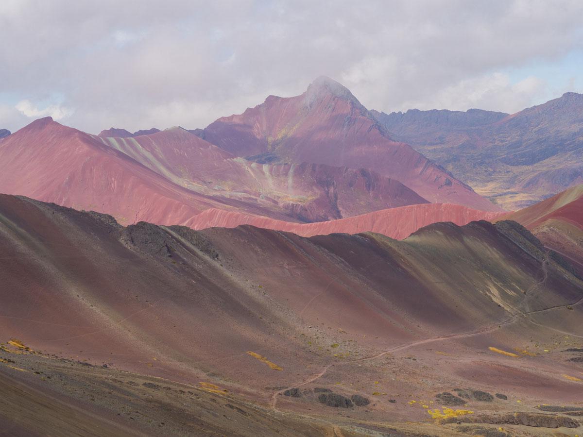 Red Valley Rainbow Mountain Peru